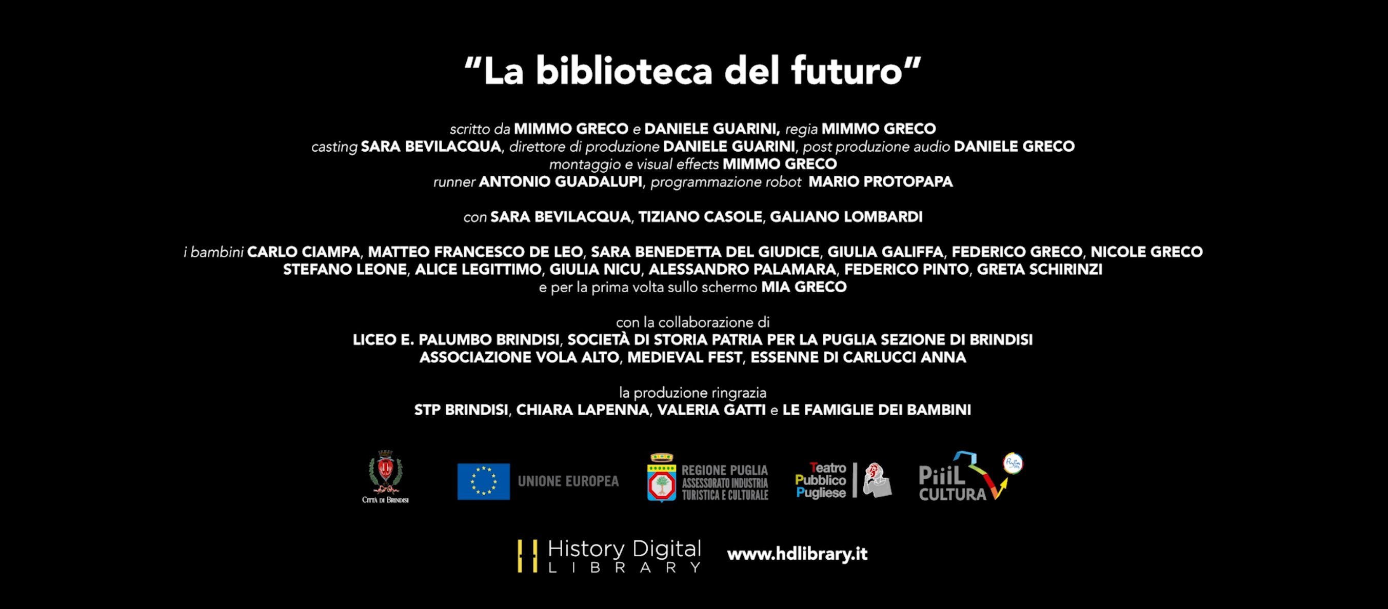 History Digital Library - La Biblioteca del futuro crediti